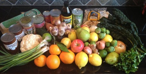 Grocery store bounty during a paleo experiment (January 2013)